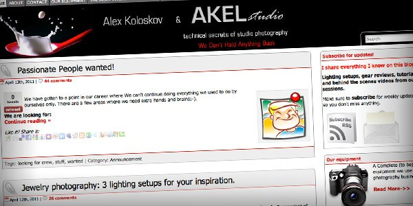 Akel Top 20 Photography Websites 2011