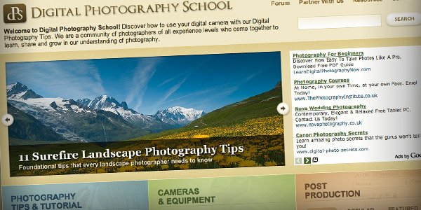 DPS Top 20 Photography Websites 2011