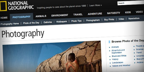 Nat Geo Top 20 Photography Websites 2011