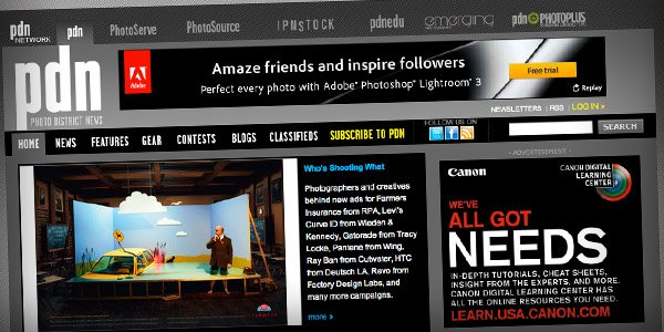 PDN Top 20 Photography Websites 2011