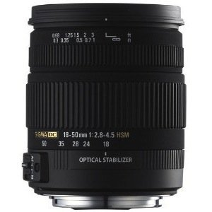 Sigma 18-50mm f/2.8-4.5 SLD Aspherical DC Optical Stabilized (OS) Lens with Hyper Sonic Motor (HSM)