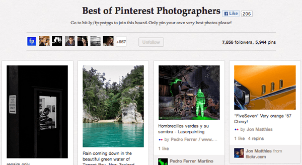 Best of Top 20 Photography Pinterest Boards