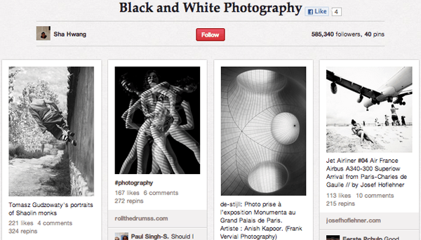 black Top 20 Photography Pinterest Boards