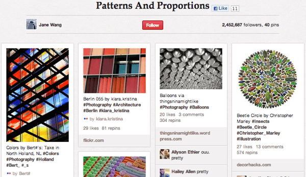 pattern Top 20 Photography Pinterest Boards