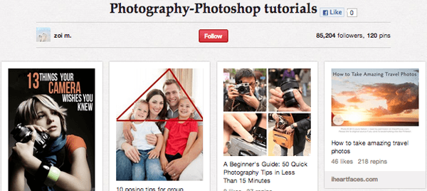 photo Top 20 Photography Pinterest Boards