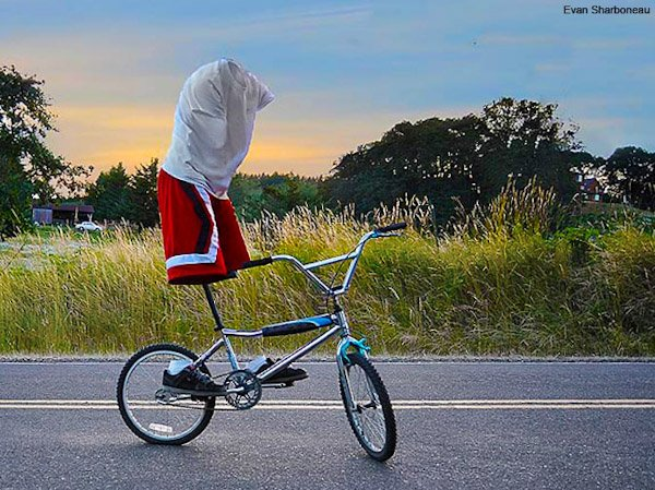 invisible bicyclist1 Trick Photography and Special Effects eBook Photos