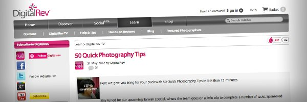 50 Quick Photography Tips Top 50 Photography Posts 2012